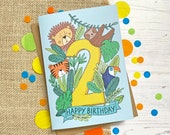 2nd Birthday card - hand ...