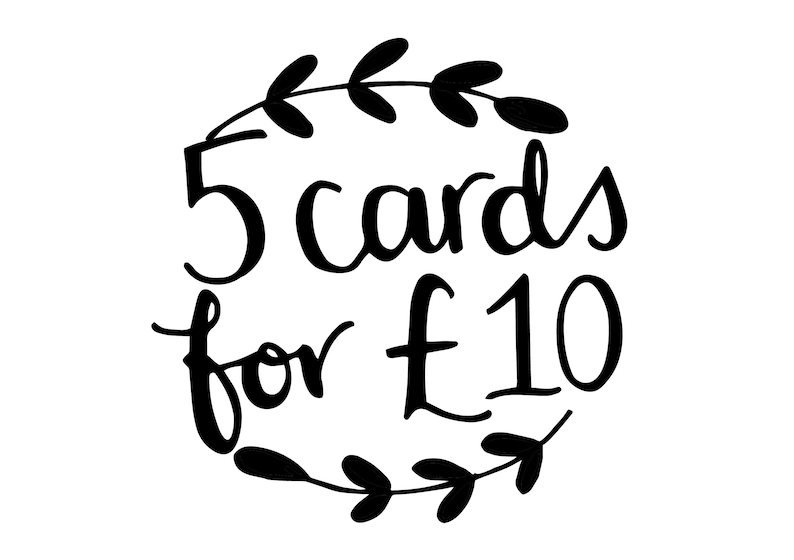 5 Paper Fudge greeting cards  pick any 5 cards for the price image 0