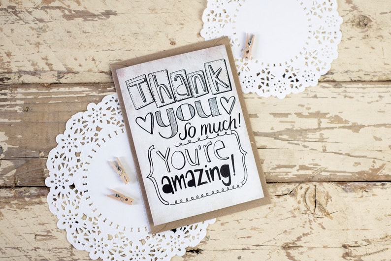 Thank You You're Amazing  THANK YOU  hand drawn image 0