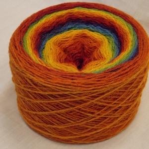 Kauni EQ knitting wool knitting yarn Kauni rainbow multicoloured