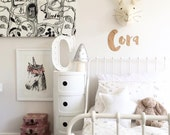 Soft cotton bedding set, Clean design - white with minimalist stars print, Modern nursery, 3PC Transitional toddler bed & Baby cot bedding