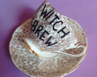 """VIntage """"Witch Brew"""" Tea Cup"""