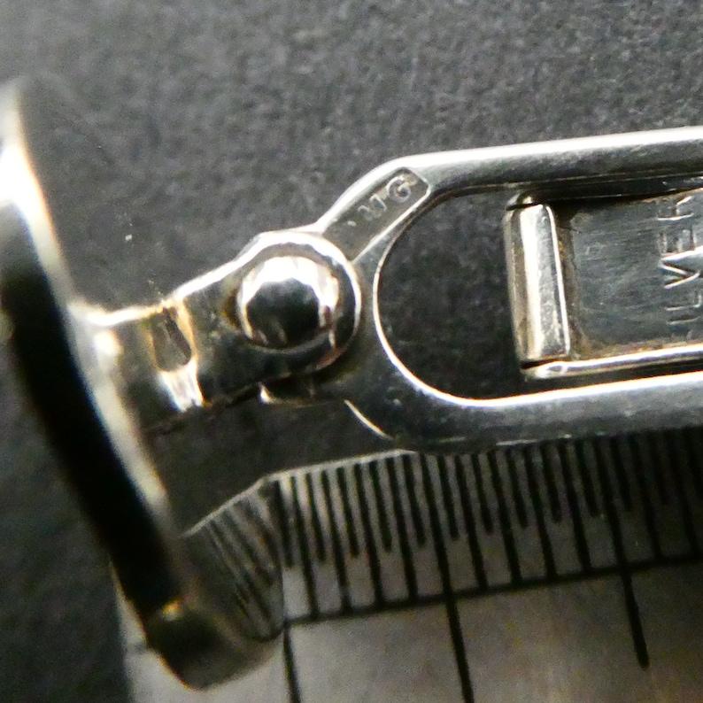 Striking Modernist Design Great Cond Vintage 70s Ola Gorie Scottish Silver Cufflinks Gift Boxed OMG Stamped Modernist Brutalist Links