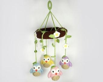 PATTERN: Little Owls Amigurumi Mobile Crochet Pattern - PDF Digital Download