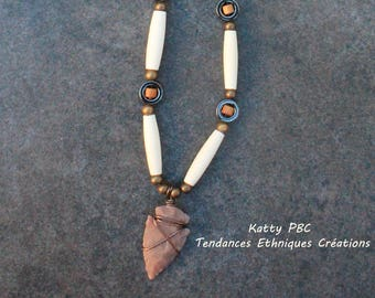 "Necklace Amerindian style "" Alawa """