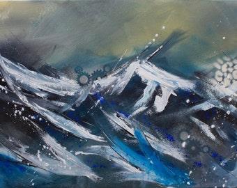 abstract sea original work