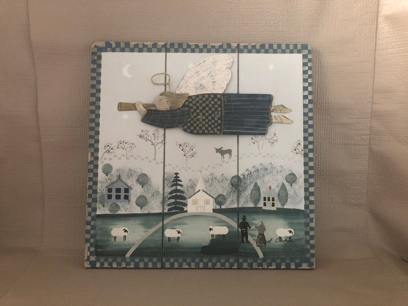 RUSTIC Carol Endres Plaque WOOD Plank Plaque Farmhouse image 0