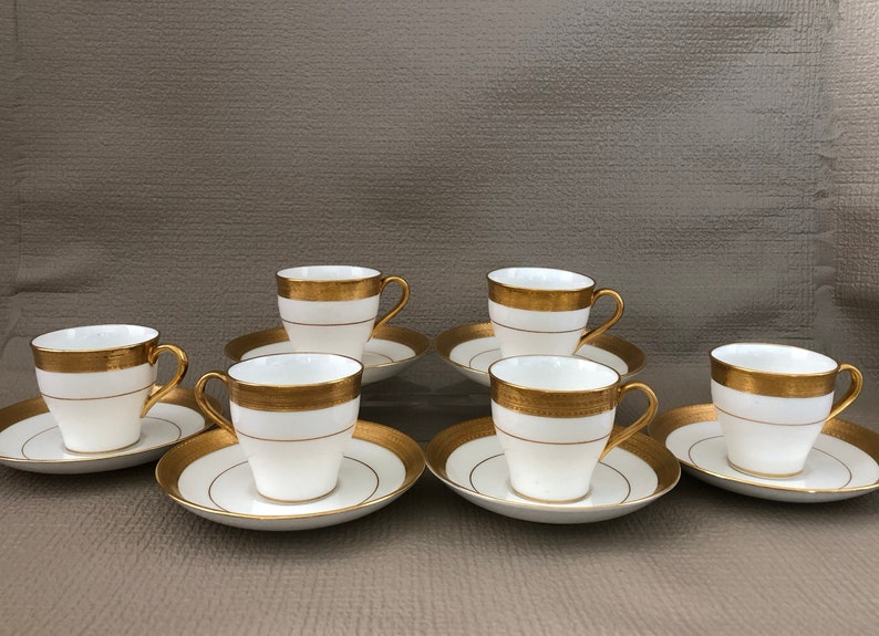 Antique Mintons MINTONS DEMITASSE Set of 6 TEA Cups and image 0