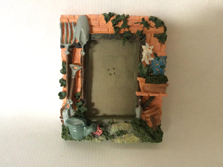 Amazing Gardener PHOTO FRAME, Resin Garden Frame, Garden Shed Frame, Small Picture  Frame, Whimsical 4x3 Frame, Bucket Shovel Flower