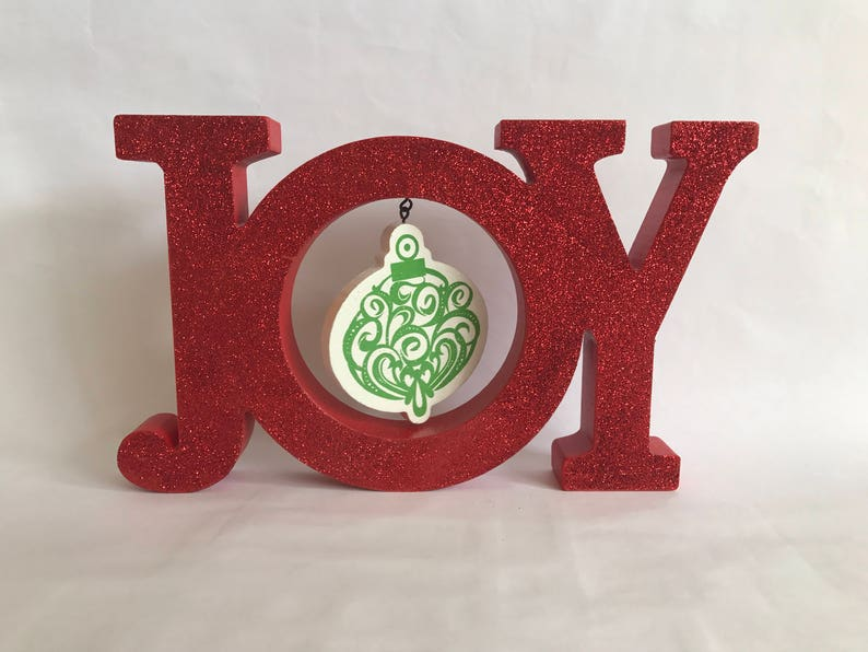 Joy Decoration Mantle Decoration Sparkle Joy Christmas image 0