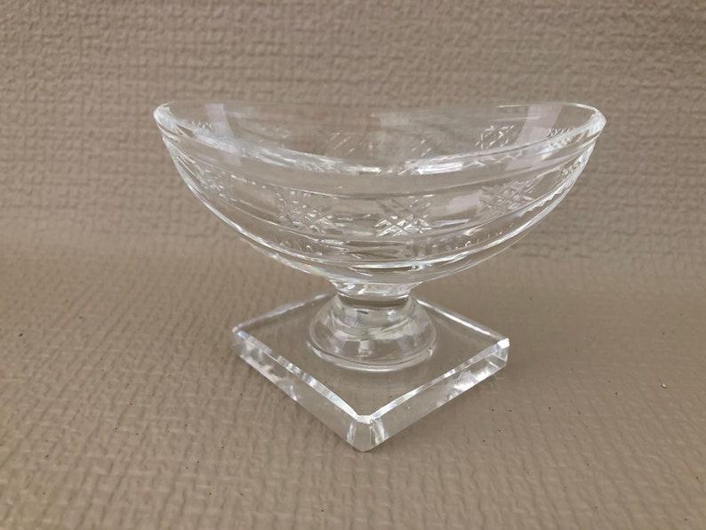 Old Waterford SALT CELLAR Salt Dip Small Boat Shape Bowl image 0