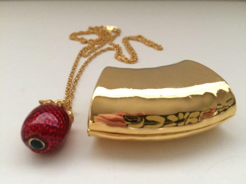 Gold NECKLACE Strawberry Pendant Optional Slide Wear 2 image 0
