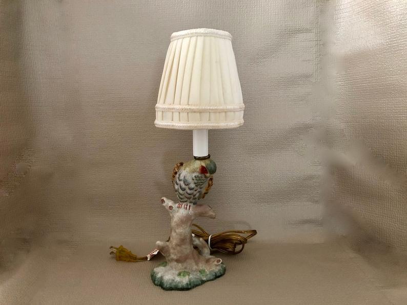 Ceramic PARROT LAMP Electric Lamp Colorful Parrot Figure image 0