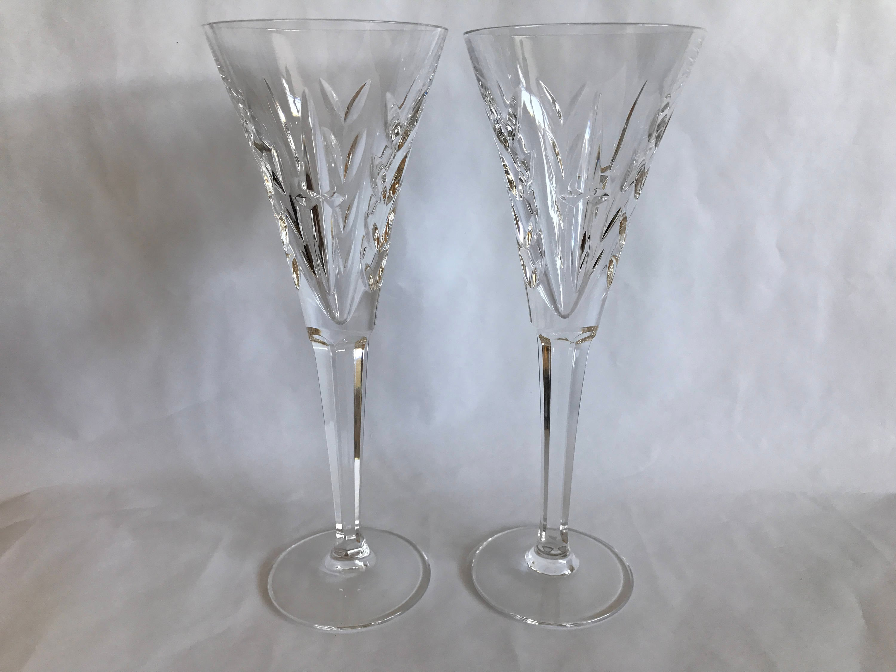 Pair Waterford Flutes Toasting Flutes Crystal Flutes Wedding