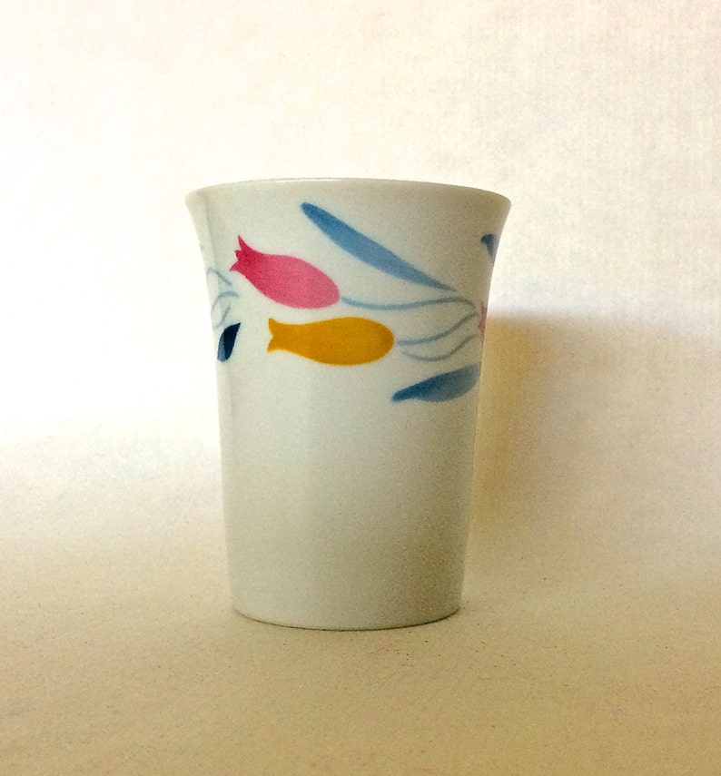 Vintage Small CHINA Drinking Cup Nightstand/Bathroom Glass image 0