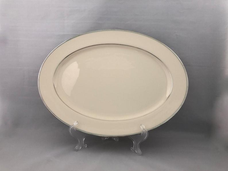 Lenox China Platter Lenox Montclair Small Lenox Ivory China image 0
