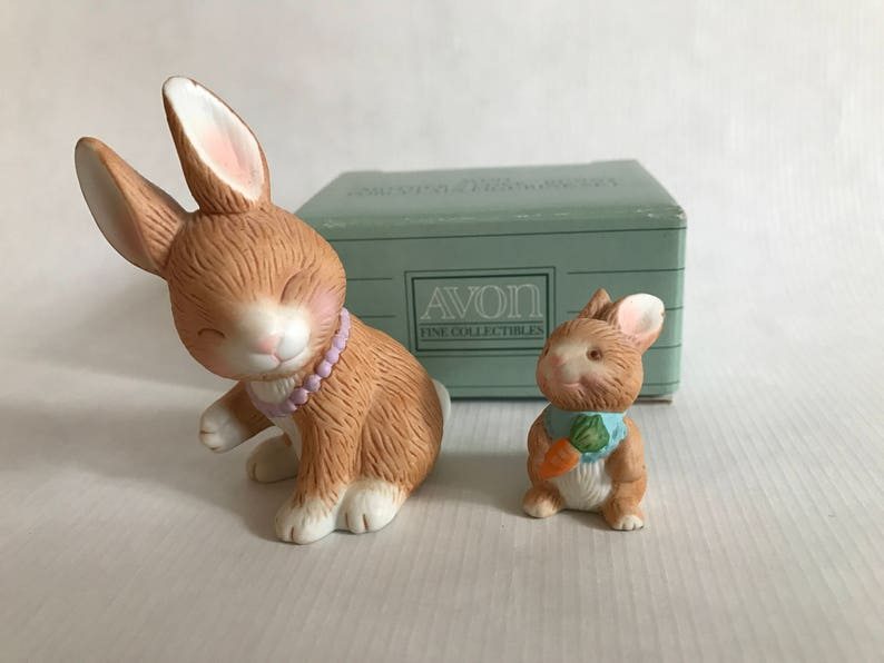 AVON COLLECTIBLE Mother's Love Bunny Porcelain image 0