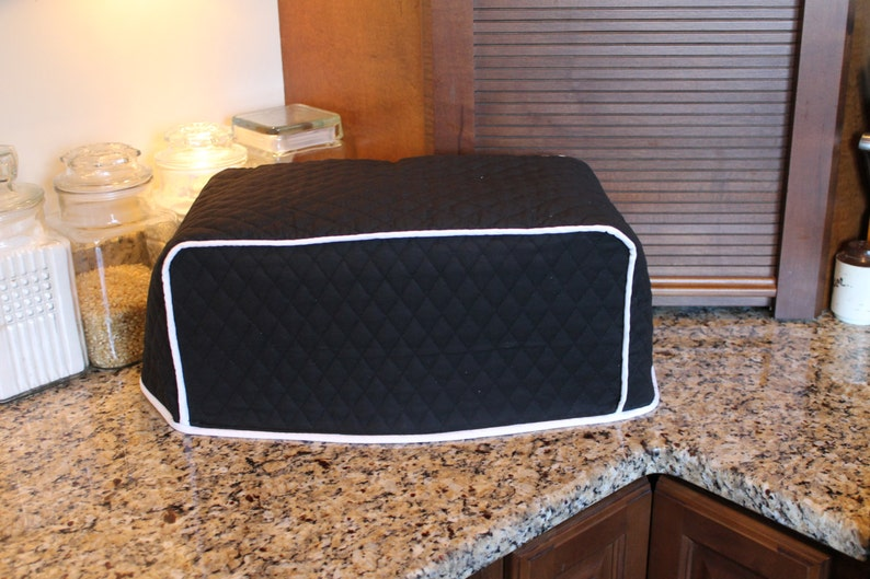 Toaster Oven Cover 600 Color Combos M T O Black White Trim Etsy