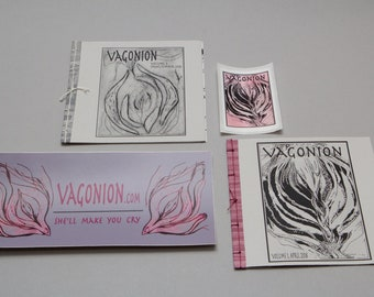 Vagonion Zine Sticker set - 2 zines 2 stickers - Feminist zines by Cristina Hajosy