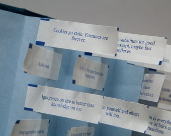Fortune's Flight - small edition - Flag book with fortune cookie fortunes - Unique Father's Day gift