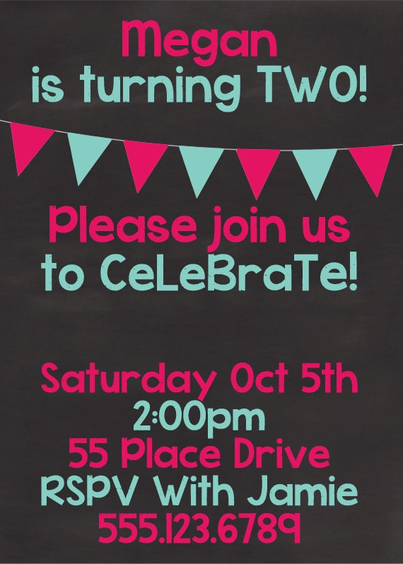 Birthday Invite Template Photoshop Digital