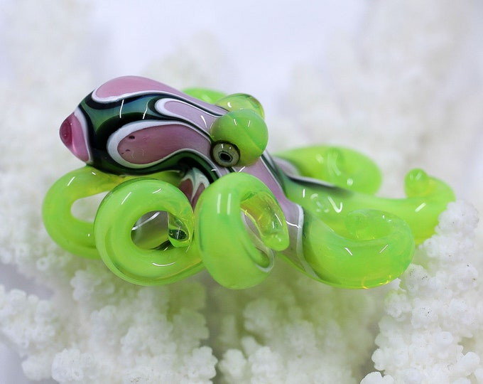 TheRuby Slyme Kracken Collectible Wearable  Boro Glass Octopus Necklace / Sculpture - Made to Order