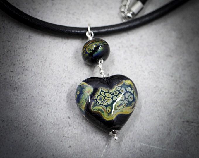 Handmade Italian Glass Dragon Heart Pendant