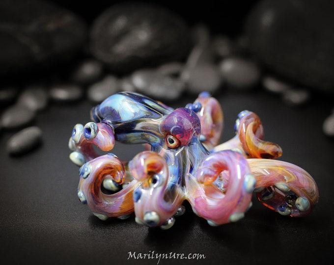 The Dark Loki Kraken Collectible Wearable  Boro Glass Octopus Necklace / Sculpture Made to Order