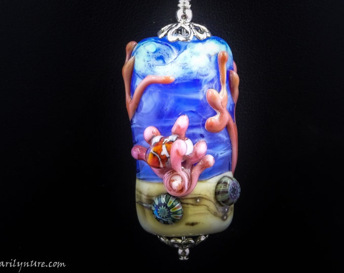 Deep Water Mermaid Jewelry Underwater Aquarium Bead full of Sealife
