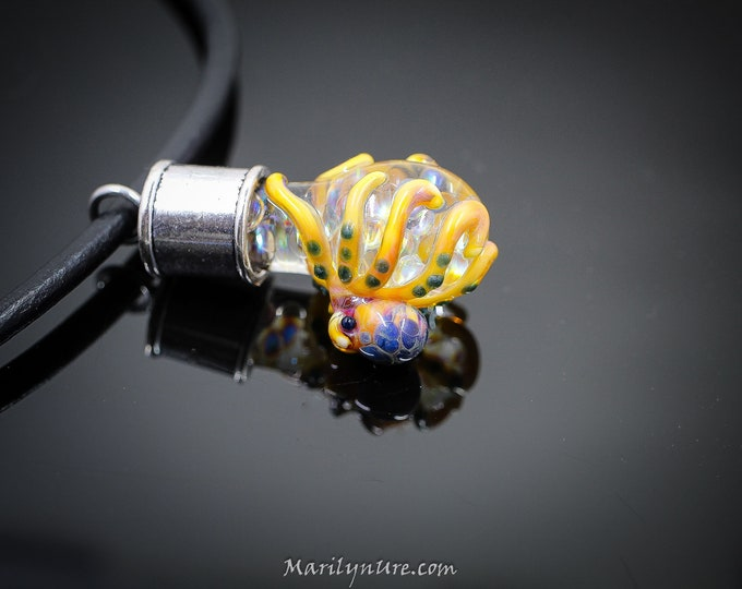 The  Octopus Bubble Pendant- a bubble full of opal eggs