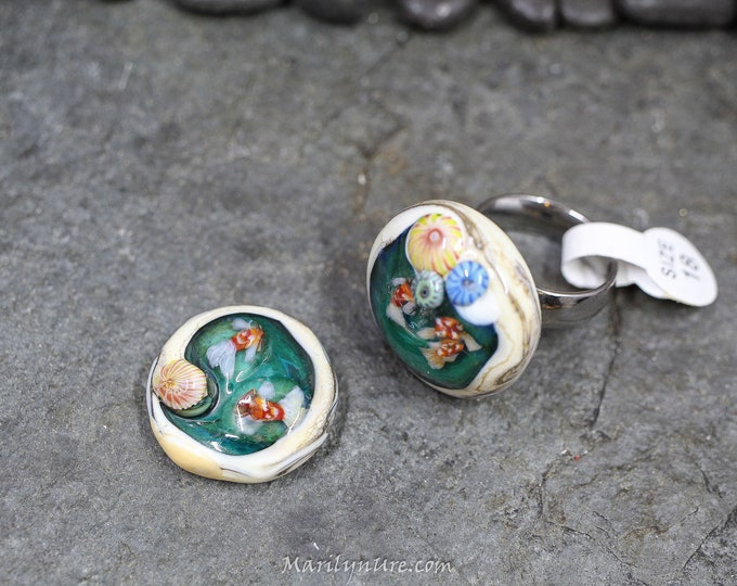 Interchangeable Pendant/ring parts for Little Octo and Koi Pond Ring Toppers
