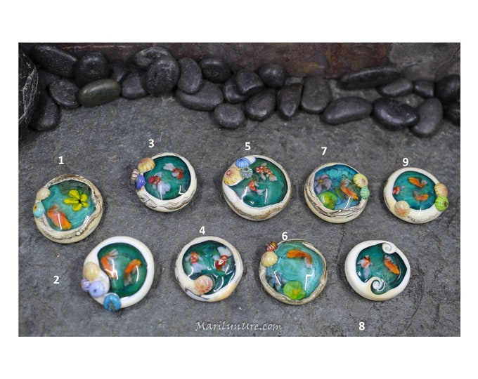 Koi Pond Ring Toppers or Pendant Focals- See other listing for screw on hardware