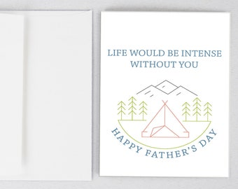 In Tents, Husband Card, Husband Father's Day Card, Funny Father's Day Card, Greeting Card, Father's Day, Gifts for Dad, Father's Day Print