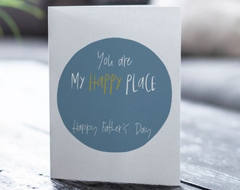 Happy Place, Husband Card, Husband Father's Day Card, Father's Day Card, Greeting Card, Father's Day, Gifts for Dad, Father's Day Print