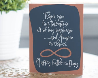 Madness and Amazon Card, Funny Card, Husband Father's Day Card, Father's Day Card, Greeting Card, Father's Day,  Husband Card, Funny