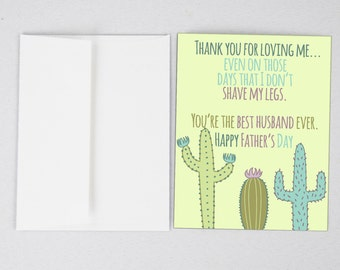 Husband card husband fathers day card fathers day etsy cactus husband card husband fathers day card funny fathers day card greeting card fathers day gifts for dad fathers day print m4hsunfo