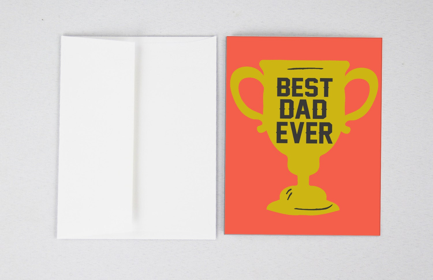 Best Dad Ever Fathers Day Card Funny Fathers Day Etsy