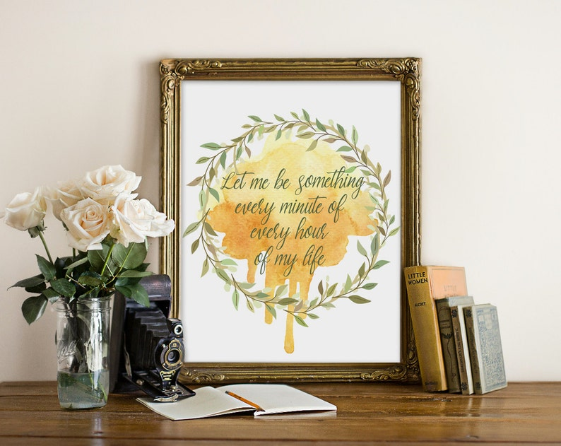 Literary Quote Romantic Quote Book Quote Wall Art Trendy image 0