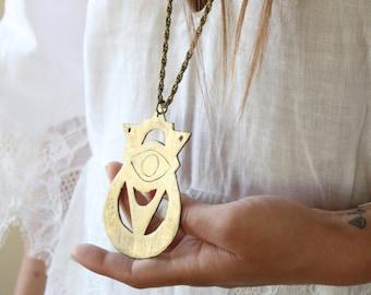 Statement necklace, witch jewelry, eye charm necklace