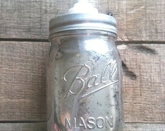 Country Living Vintage Mercury Glass Soap Dispenser
