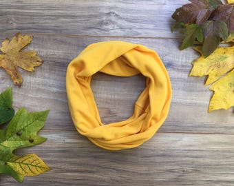 Baby Toddler Child Infinity Scarf - Fall MustardREADY TO SHIP