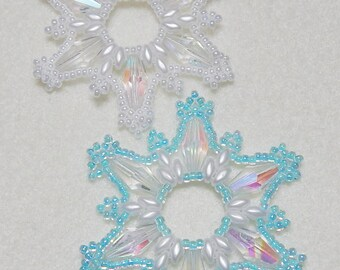 Snowflake #14 Beaded Ornament Pattern