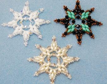 Snowflake #5 Beaded Ornament Pattern