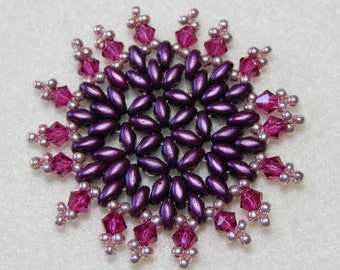 Snowflake #13 Beaded Ornament Pattern
