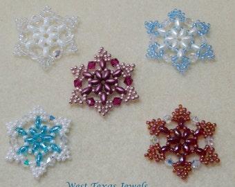 Snowflake #1 Beaded Ornament Pattern