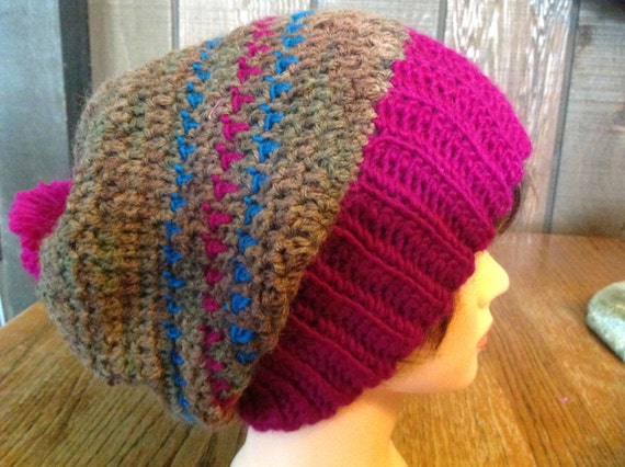 8c2c04e07f7 Clearance Wool Slouchy Hippy Skater Hat Crocheted Slouchy