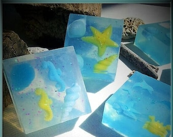Shades of Blue glycerin soap Summer Crazies series