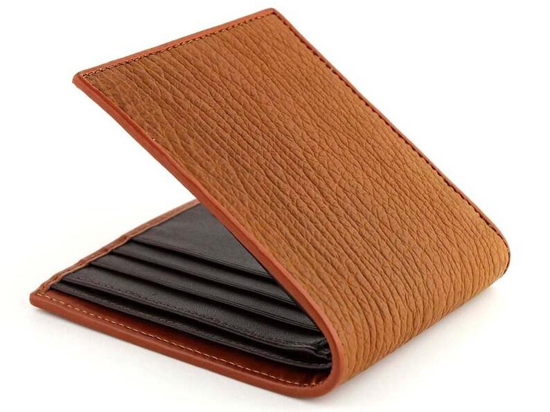 ad04b71c354932 Pelle di squalo portafoglio portafogli design esclusivo.   Etsy