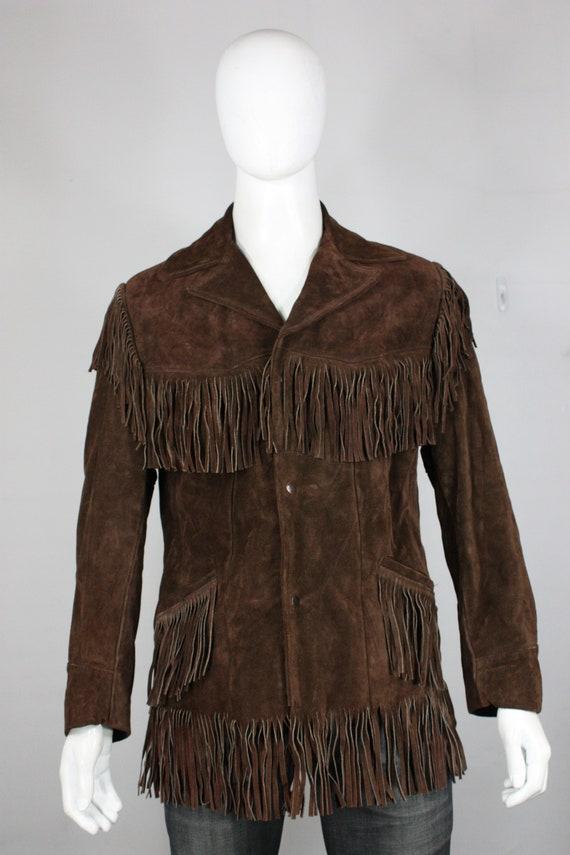 vintage Excelled fringe leather jacket 40 medium