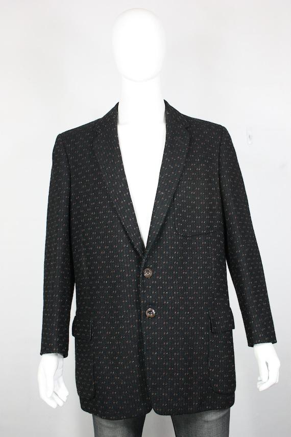 vintage 50's wool fleck blazer 46
